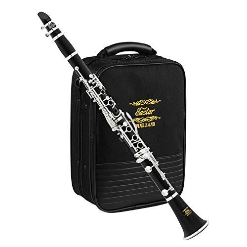Eastar B Flat Clarinet Wind Band Commander Ebonite Silver Keys