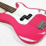 Crescent Electric Bass Guitar Starter Kit – Pink Color (Includes Amp & CrescentTM Digital E-Tuner) 1