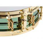 Ludwig LW0414CP 4 X 14 Inches Carl Palmer VENUS Signature Green Brass Snare Drum 3
