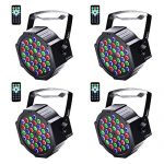 U`King Stage Lights 36 LED Par Lights Indoor for Party Wedding With Remote and DMX Control Sound Activated RGB Party Lights (4 Pack)