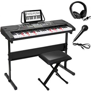Smartxchoices 61-Key Portable Electronic Keyboard Piano Kit LCD Display