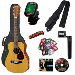 Yamaha Junior 3/4 Size Acoustic Guitar with Gig Bag and Legacy Accessory Bundle