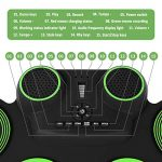 YISSVIC Electronic Drum Set Electric Drum Set 9 Drum Pads Rechargeable Battery Roll Up Drum Portable with Headphone Jack Built-in Speaker for Kids or Beginner 3