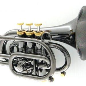 """CAROL BRASS CPT-3000-GLS-Bb-BG """"BlackHawk"""" Pocket Trumpet"""