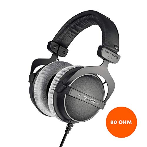 beyerdynamic 80 Ohm Over-Ear Studio Headphones in black