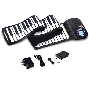 BABY JOY 88 Keys Roll Up Piano, Upgraded Electronic Piano Keyboard