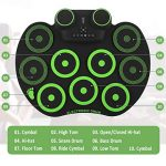 YISSVIC Electronic Drum Set Electric Drum Set 9 Drum Pads Rechargeable Battery Roll Up Drum Portable with Headphone Jack Built-in Speaker for Kids or Beginner 2