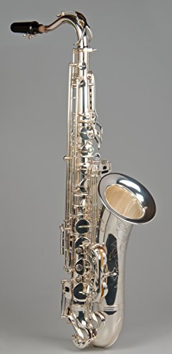 Tempest Agility Winds Silver Plated Bb Tenor Saxophone Mark VI Style Big Sound High Copper Brass Engraved Body 5-Year Warranty