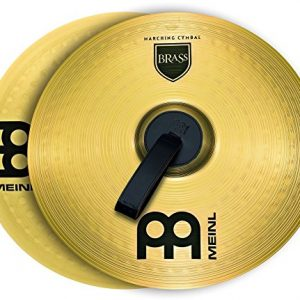 "Meinl 14"" Marching Cymbal Pair with Straps - Brass Alloy Traditional Finish - Made In Germany, 2-YEAR WARRANTY (MA-BR-14M)"
