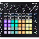 Novation Circuit Groove Box Drum Machine Bundle with Headphones and 4-Port 3.0 USB HUB 1