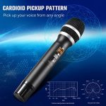 Hotec 25 Channel UHF Wireless Microphone Dual Microphone with Mini Portable Receiver 1/4″ Output, for Church/Home/Karaoke/Business Meeting (Dual mic) 3