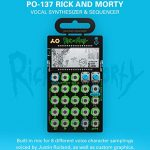 Teenage Engineering PO-137 Pocket Operator Rick and Morty Limited Edition Vocal Synthesizer Bundle with CA-X Silicone Protective Case (Green), 3-Pack of 7″ Audio Aux Cables, and 4 AAA Batteries 1