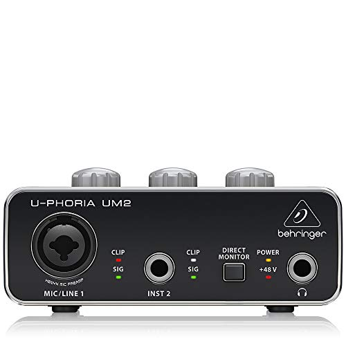 BEHRINGER Audio Interface, Black, 1-Channel