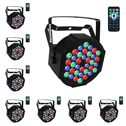 Par Lighting for Stage, 36x1W LED RGB 7 Channel with Remote