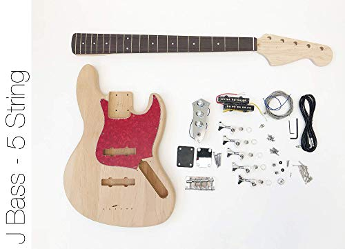 DIY Electric Bass Guitar Kit - 5 String J Bass Build Your Own