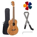 Classical Ukulele Kit Tiger Flame Okoume Wood