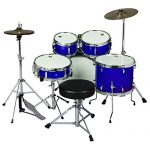 ddrum D1 Junior Complete Drum Set with Cymbals, Police Blue 2