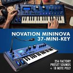 Novation MiniNova 37-Mini-Key Analog Modeling Synthesizer W/Deluxe Bundle, Samson Stereo Headphone, Cables, and FiberTique Cleaning Cloth 1