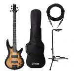 Ibanez 5-String Electric Bass Guitar with Gig Bag, Stand and Knox Guitar Cable