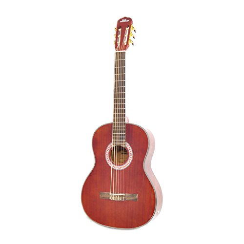 """Cherry Classical Acoustic Electric Guitar - 39.5"""" 6 String Mahogany"""