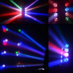 Spider Moving Head Strobe Light 100W,RGBW LED Stage Lighting, DMX DJ Light with Gobo Pattern for Party Disco Wedding KTV Club Party and More Performance Places 3