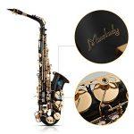 Muslady Eb Alto Saxophone Sax Brass Lacquered Gold 82Z Key Type Woodwind Instrument 3