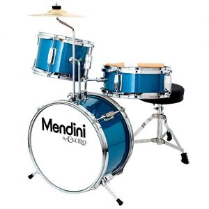 Mendini by Cecilio 13 inch 3-Piece Kids/Junior Drum Set with Throne