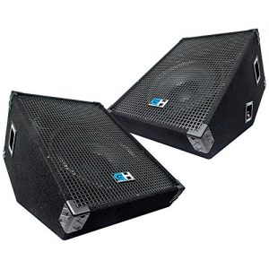 Grindhouse Speakers - Pair of 15 Inch Passive Wedge Floor / Stage Monitors