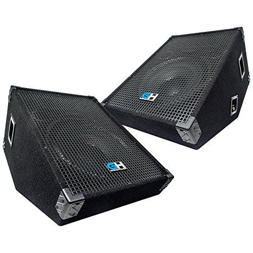 Grindhouse Speakers - Pair of 15 Inch Passive Wedge Floor / Stage Monitors