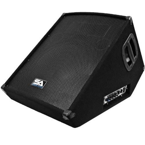 """Seismic Audio -Powered 2-Way 15"""" Floor / Stage Monitor Wedge Style"""