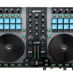 Gemini GV Series G2V Professional Audio 2-Channel MIDI Mappable Virtual DJ Controller with Touch Sensitive Jog Wheel and LED Monitor 1