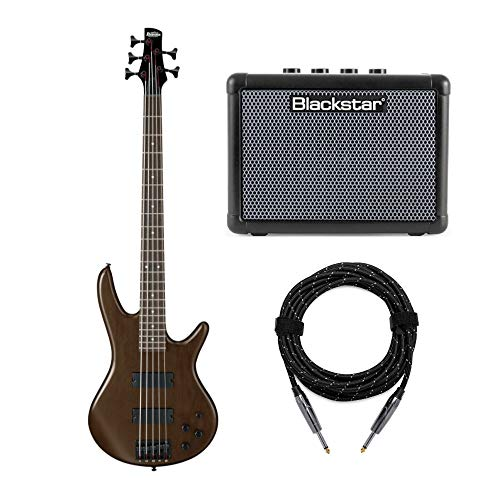 Ibanez 5-String Electric Bass Guitar with FLY3 Bass Amp and Knox Guitar Cable
