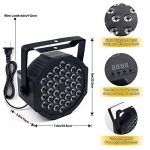 DJ Lights, KOOT 36 X 1W RGB Stage Disco Uplighting Package Sound Activated Strobe Lights, High Brightness and Quiet Motor with Remote and DMX Control, 8 Modes Best for Wedding Church Bar (8 Packs) 3