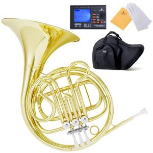 Mendini MFH-20 Single Key of F Brass French Horn