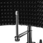 Neewer NW-5 Foldable Adjustable Portable Sound Absorbing Vocal Recording Panel, Aluminum Acoustic Isolation Microphone Shield with High-Density Foam, Non-slip Feet for Stand Mount or Desktop Use 3