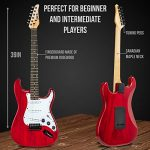 LyxPro 39 inch Electric Guitar Kit Bundle with 20w Amplifier, All Accessories, Digital Clip On Tuner, Six Strings, Two Picks, Tremolo Bar, Shoulder Strap, Case Bag Starter kit Pack Full Size 3