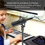 Portable Flexible Electronic 61-Key piano – ANDSF [2019 Upgraded Version ] double loudspeaker with Bluetooth microphone music keyboard piano built-in rechargeable battery for beginners gift 2