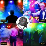 DJ Lights, KOOT 36 X 1W RGB Stage Disco Uplighting Package Sound Activated Strobe Lights, High Brightness and Quiet Motor with Remote and DMX Control, 8 Modes Best for Wedding Church Bar (8 Packs) 1