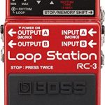 Boss RC-3 Loop Station Bundle with Power Supply, Instrument Cable, Patch Cable, Picks, and Austin Bazaar Polishing Cloth 1