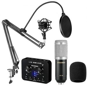 Aokeo Professional Studio Live Stream Broadcasting Recording Condenser