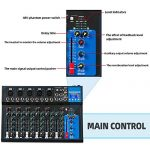Depusheng 7 Channel USB Digital Karaoke Mixer Bluetooth Live Studio Audio Mixing Console Microphone Sound Card for DJ Wedding Party KTV 3
