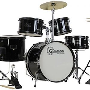 Gammon 5-Piece Junior Starter Drum Kit with Cymbals, Hardware