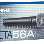 Shure BETA 58A Supercardioid Dynamic Microphone with High Output Neodymium Element for Vocal/Instrument Applications 2