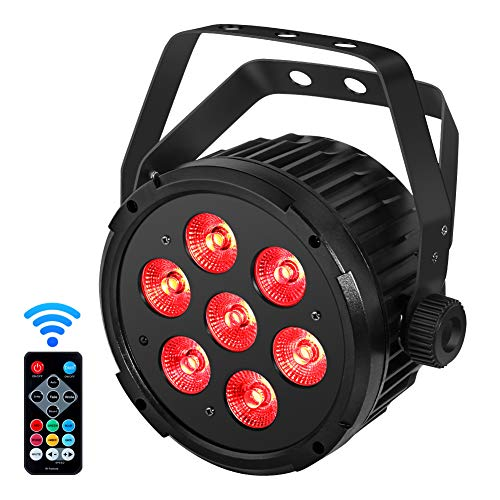 Stage Lights, YeeSite 70W Par Lights with RGBWA LED Par Sound Activated