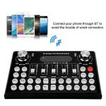 ASHATA Live Sound Card, Multifunctional Bluetooth Live Sound Card Intelligent Live Sound Voice, Metal Shell Recording Music Audio Mixer Sound Effects for WeChat/QQ/Computer Live(Black) 3