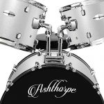 Ashthorpe 5-Piece Full Size Adult Drum Set with Remo Heads & Premium Brass Cymbals – Complete Professional Percussion Kit with Chrome Hardware – Silver 3