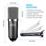 TONOR Pro Condenser Microphone XLR to 3.5mm Podcasting Studio Recording Condenser Microphone Kit Computer Mics with 48V Phantom Power Supply Black 2