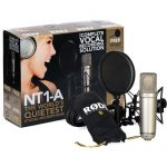 Rode NT1-A Complete Vocal Recording Solution with Acoustic Reflection Filter and Tripod Mic Stand Kit 1