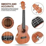 Concert Ukulele Ranch 23 inch Professional Wooden ukelele Instrument Kit With Free Online 12 Lessons Small Hawaiian Guitar ukalalee Pack Bundle Gig bag & Digital Tuner & Strap & 4 Aquila Strings Set 3