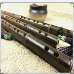 Traditional Handmade Purple Bamboo Dizi Flute-,Musical Woodwind with Flute Film, Solid Flute Film Glue, Protective case, Pendant,in strument Key of C 2